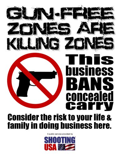 GunFreeZone Flier Small